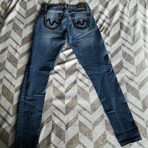 YMI Skinny Jeans Faded Distressed Sz 7